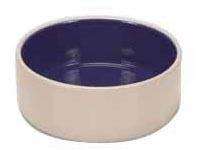 Keramická miska s modrou glazurou