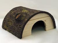 Domek půlkruhový se dřevem malý