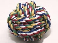 Hračka míč bavlněný barevný 12,5 cm
