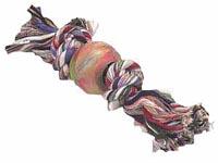 Bavlněný uzel s gumovým míčem