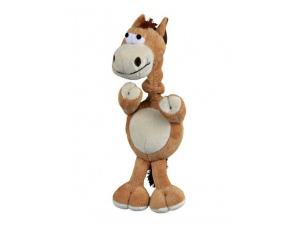 Plyšový kůň s natahovacím krkem