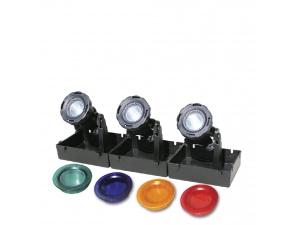 Osvětlení do jezírek 3-žárovkové, 3 x 20W