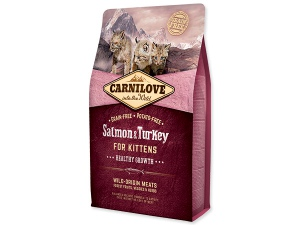 CARNILOVE Salmon and Turkey kittens Healthy Growth 6kg