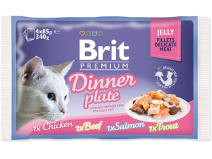 Kapsičky BRIT Premium Cat Delicate Fillets in Jelly Dinner Plate 340g