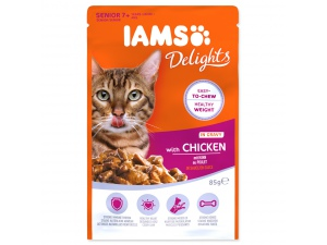Kapsička IAMS Cat Senior Delights Chicken in Gravy