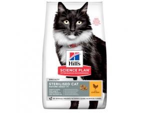 Hills Science Plan Feline Mature Adult 7+ Sterilised Chicken NOVÝ