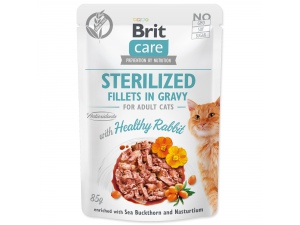 Kapsička BRIT Care Cat Sterilized Fillets in Gravy with Healthy Rabbit 85g