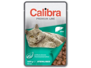 Calibra Cat kaps. Premium Sterilised Liver 100 g