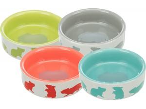 Keramická miska pro křečky barevná