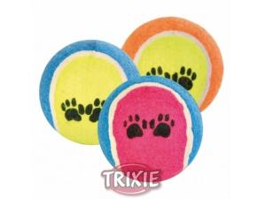 Tenisový míč barevný s tlapkami 6cm