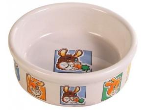 Porcelánová miska, motiv králík