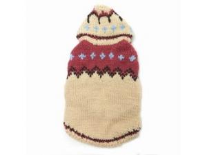 Pletený svetr s kapucí 32cm