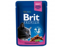 BRIT Premium Cat Chicken & Turkey kapsička 100 g