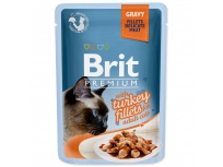 Kapsička BRIT Premium Cat Delicate Fillets in Gravy with Turkey 85g