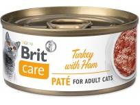 Konzerva BRIT Care Cat Turkey Paté with Ham 70g