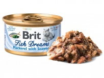 Brit Cat konz. Fish Dreams - Mackerel & Seaweed 80g