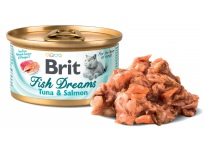 Brit Cat konz. Fish Dreams - Tuna & Salmon 80 g