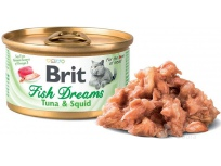 Brit Cat konz. Fish Dreams - Tuna & Squid 80 g