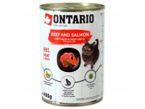 Konzerva ONTARIO Beef, Salmon, Sunflower Oil 400g