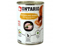 Konzerva ONTARIO Chicken, Rabbit, Salmon Oil 400g